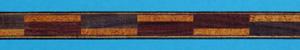 rosewood and mahogany ladder pattern