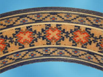 floral mosaic rosette