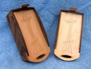 hardwood box with logo