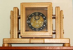 custom clock with inlay