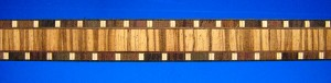 rosewood/maple/zebrawood ladder strip