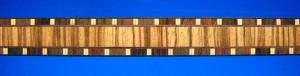 rosewood/maple/zebrawood ladder strip