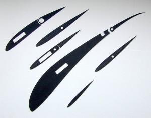 lasercut model parts