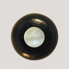 Ebony Bridge Pin w/ Mother of Pearl dot, UNDERSIZED