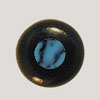 Ebony Bridge Pin w/ Turquoise dot