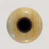 Fossilized Mammoth Ivory Bridge Pin w/ Syn. Black dot